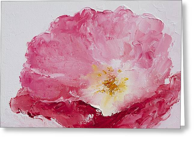 Pink Flower Prints Greeting Cards - Pink Poppy Greeting Card by Jan Matson
