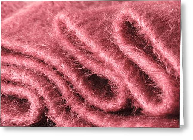 Individuality Greeting Cards - Pink scarf Greeting Card by Tom Gowanlock