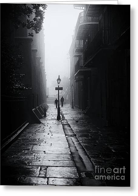 Mike Nellums Greeting Cards - PIRATES ALLEY New Orleans Greeting Card by Mike Nellums
