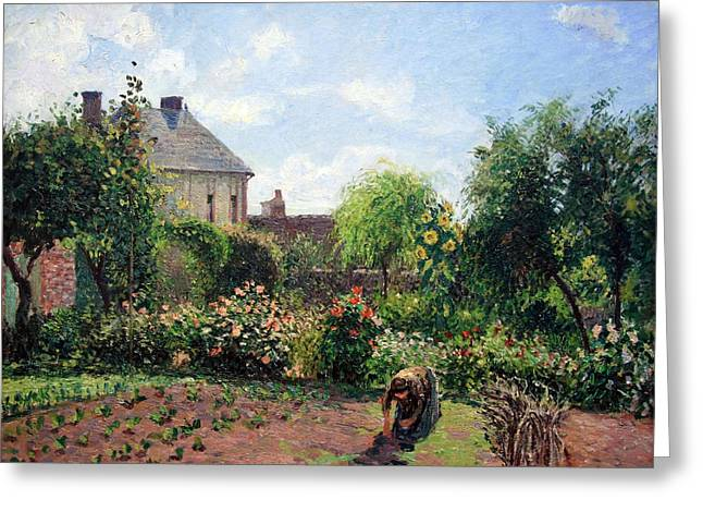 Cora Wandel Greeting Cards - Pissarros The Artists Garden At Eragny Greeting Card by Cora Wandel