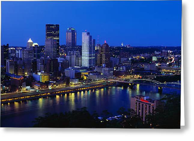 Pittsburgh Pa Greeting Card by Panoramic Images