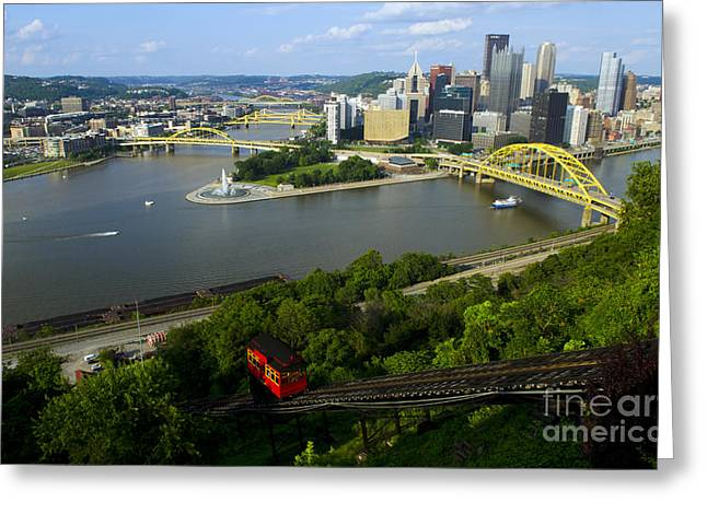Pittsburgh, Pennsylvania Greeting Card by Bill Bachmann