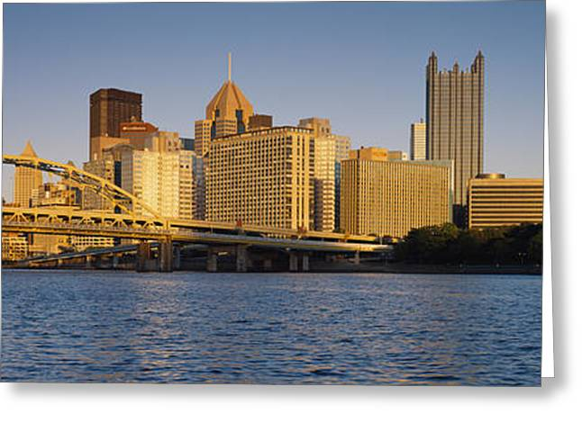 Pittsburgh Greeting Cards - Pittsburgh, Pennsylvania, Usa Greeting Card by Panoramic Images