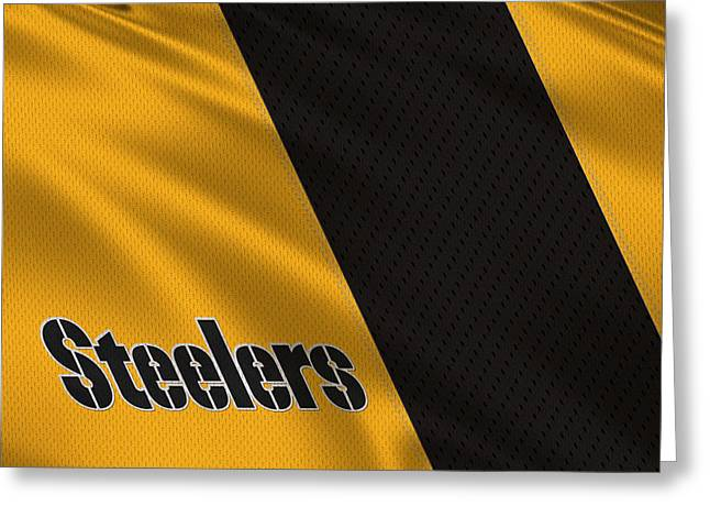 Steelers Greeting Cards - Pittsburgh Steelers Uniform Greeting Card by Joe Hamilton
