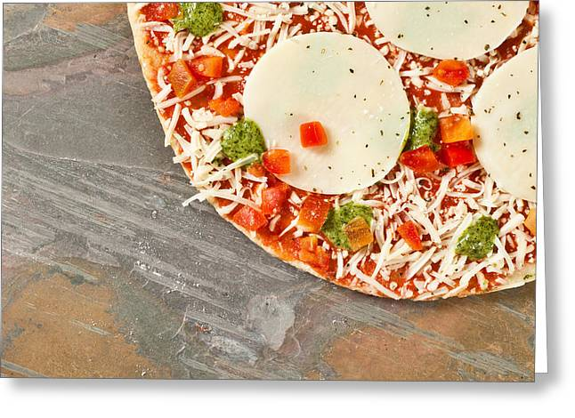 Pizza Greeting Card by Tom Gowanlock