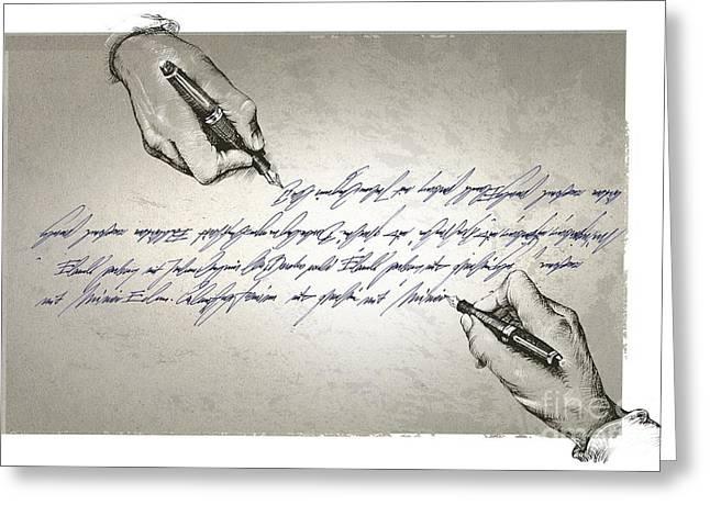Copying Greeting Cards - Plagiarism, Conceptual Image Greeting Card by Wieslaw Smetek
