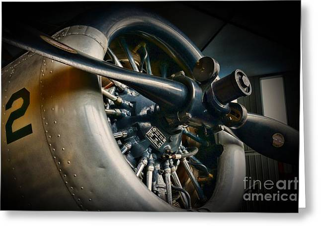 Plane Engine Greeting Cards - Plane Propeller  Greeting Card by Paul Ward