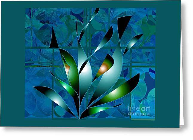 Planted Beauty Greeting Card by Iris Gelbart