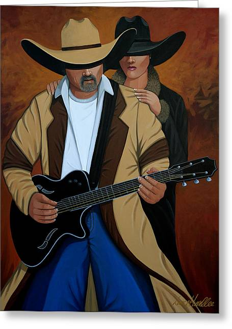 Cave Creek Western Greeting Cards - Play A Song For Me Greeting Card by Lance Headlee