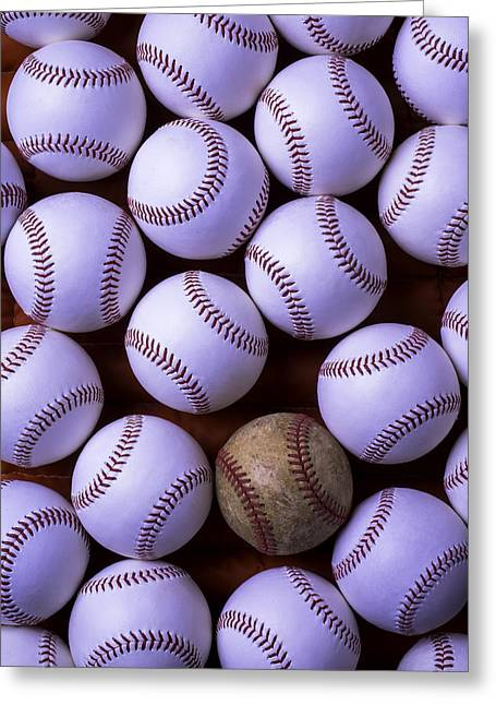 Worn Out Greeting Cards - Play Ball Greeting Card by Garry Gay