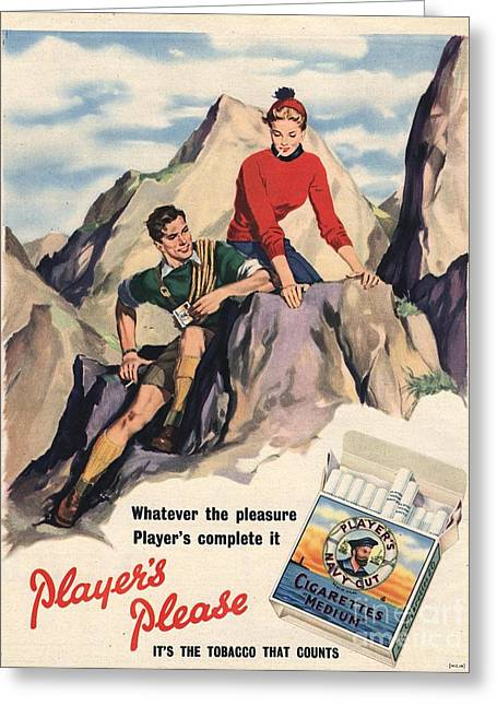 Player Drawings Greeting Cards - PlayerÕs Navy Cut 1950s Uk Cigarettes Greeting Card by The Advertising Archives