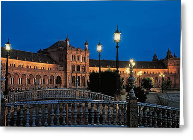 Long Street Greeting Cards - Plaza Espana Seville Andalucia Spain Greeting Card by Panoramic Images