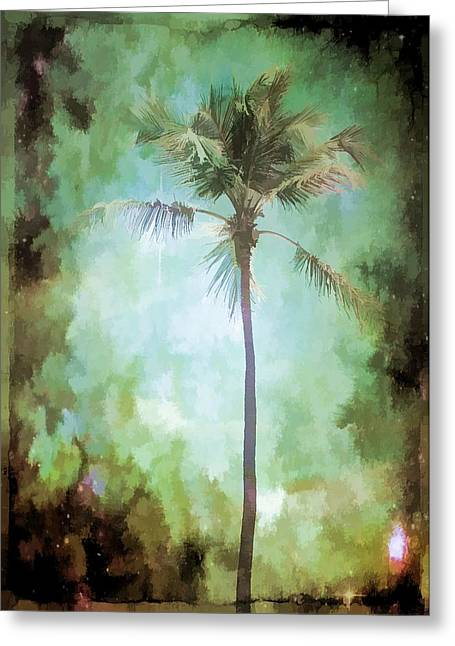 Dreamy Digital Art Greeting Cards - Pleasant Night To Be Alone Greeting Card by Jan Amiss Photography