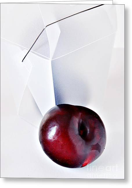 Take-out Photographs Greeting Cards - Plum Greeting Card by HD Connelly