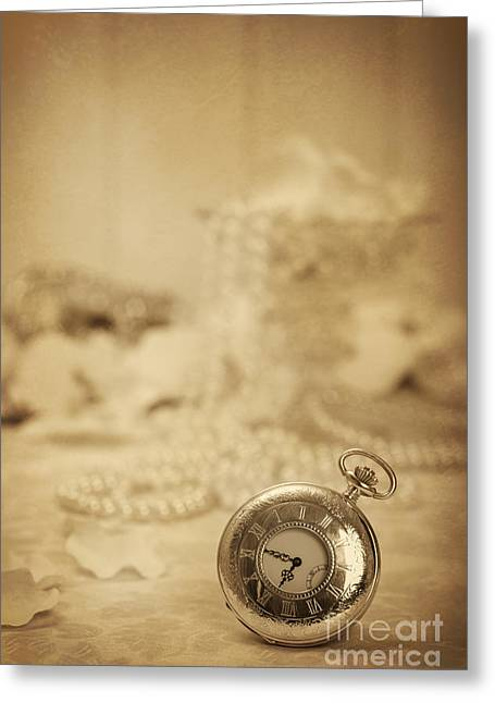 Old Watch Greeting Cards - Pocket Watch Greeting Card by Amanda And Christopher Elwell