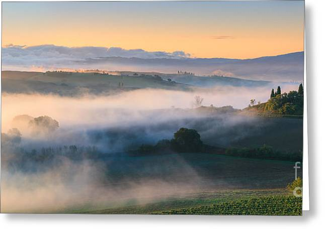 Acryl Greeting Cards - Podere Belvedere - Tuscany - Italy Greeting Card by Henk Meijer Photography