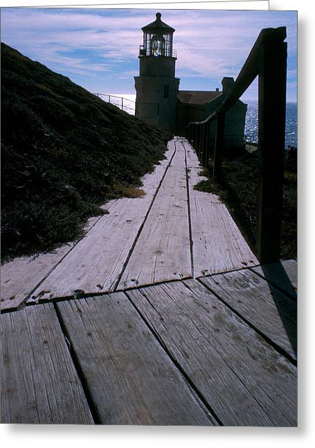 Aid To Navigation Greeting Cards - Point Conception Lighthouse Greeting Card by Jerry McElroy