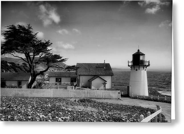 Half Moon Bay Greeting Cards - Point Montara Lighthouse Greeting Card by Mountain Dreams