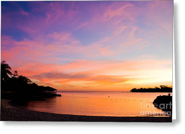 Ocaen Greeting Cards - Point Village Sunset Greeting Card by Michael Mattner