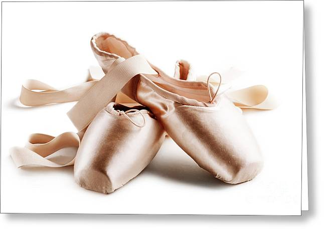 Dancer Art Greeting Cards - Pointe shoes Greeting Card by Jelena Jovanovic