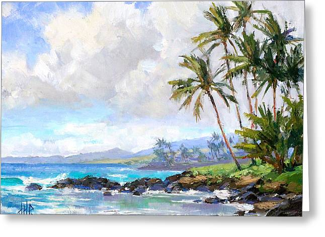Poipu Greeting Cards - Poipu Beach #1 Greeting Card by Jenifer Prince