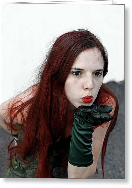 Harley Quinn Photographs Greeting Cards - Poison Ivy Greeting Card by Viktor Savchenko