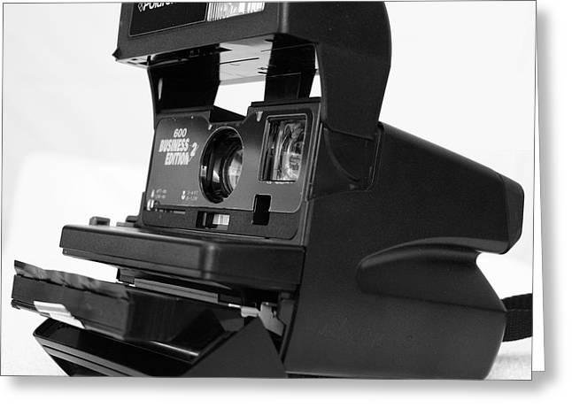 Camera Pyrography Greeting Cards - Polaroid 600 Greeting Card by DUG Harpster