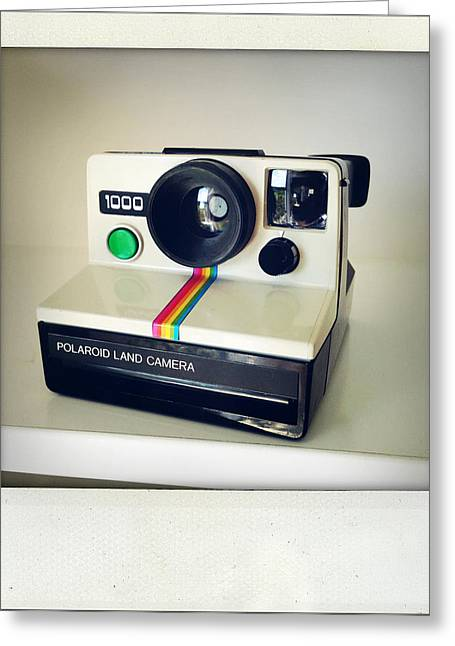 Instant Greeting Cards - Polaroid camera.  Greeting Card by Les Cunliffe