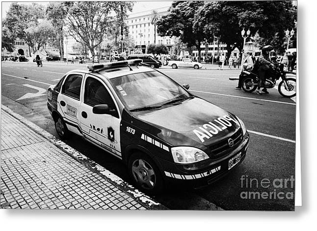 Squad Car Greeting Cards - policia federal argentina federal police patrol vehicle Buenos Aires Argentina Greeting Card by Joe Fox
