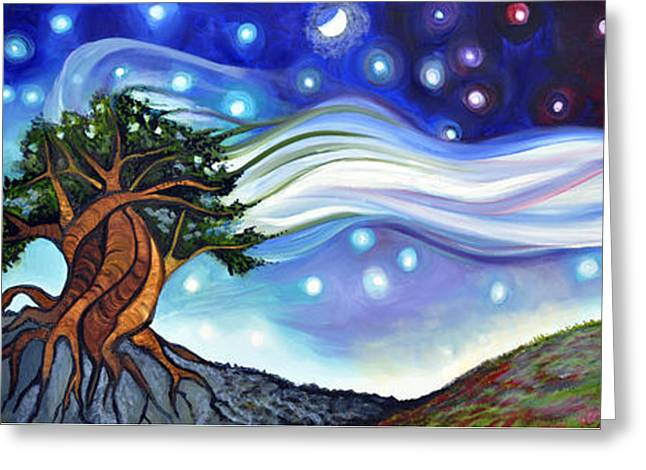 Life-cosmic Dance Greeting Cards - Pollination Greeting Card by Cedar Lee
