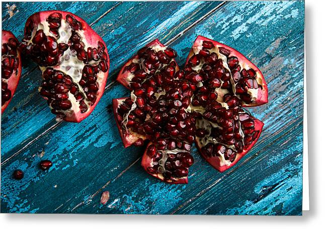 Pomegranate Greeting Card by Nailia Schwarz