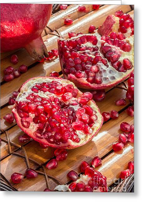 Commercial Photography Greeting Cards - Pomegranate Seeds Greeting Card by Iris Richardson