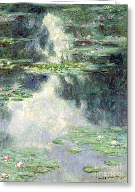 Giverny Greeting Cards - Pond with Water Lilies Greeting Card by Claude Monet
