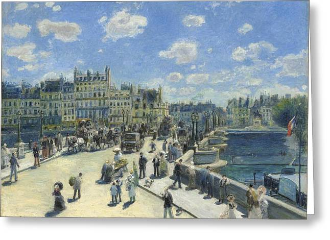 Famous Artist Greeting Cards - Pont Neuf  Paris Greeting Card by Auguste Renoir