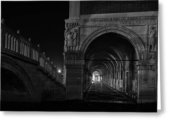 Palace Ducal Greeting Cards - Ponte della Paglia Greeting Card by Marion Galt