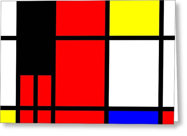 Test Pattern Greeting Cards - Pop-Art mondriaan Greeting Card by Toppart Sweden