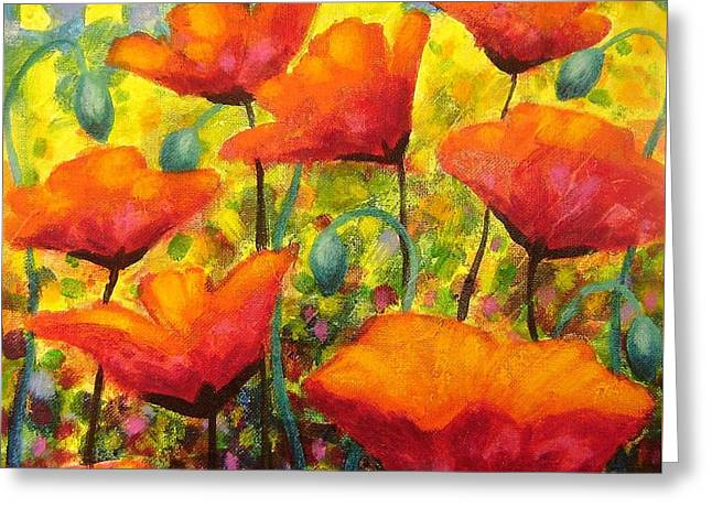 Poppy Corner Greeting Card by John  Nolan