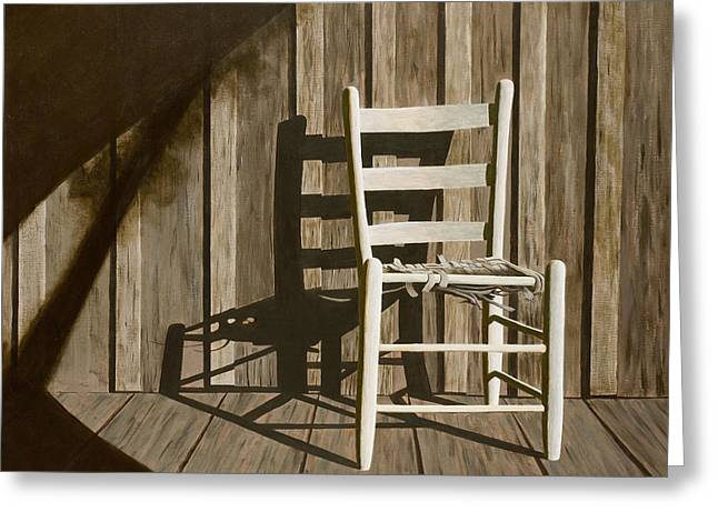 Recently Sold -  - Duo Tone Greeting Cards - Porch Chair Greeting Card by Garry McMichael