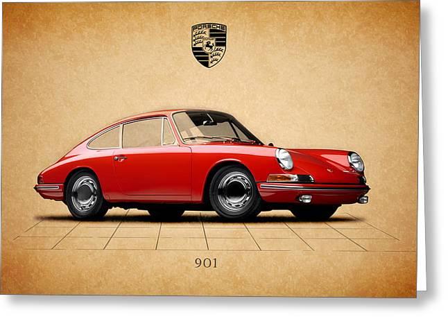 Porsche Greeting Cards - Porsche 901 Greeting Card by Mark Rogan