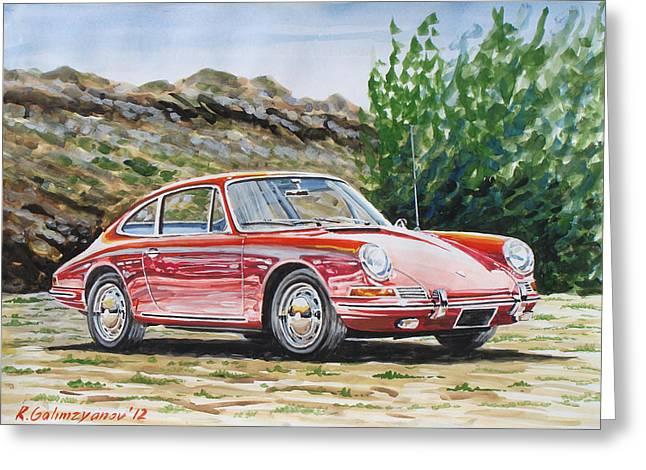 Porsche 911 Greeting Card by Rimzil Galimzyanov