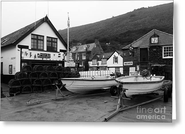 Lobster Pot Greeting Cards - Port Isaac Cornwall Greeting Card by Louise Heusinkveld