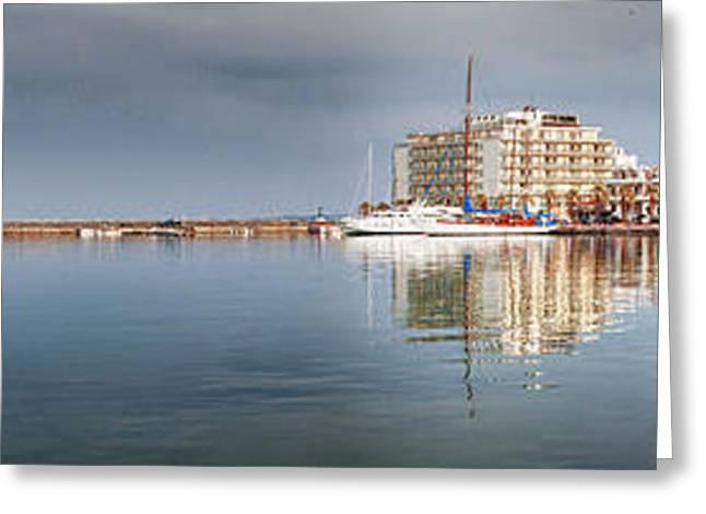 Klimis Greeting Cards - Port Of Chios Greeting Card by Emmanouil Klimis