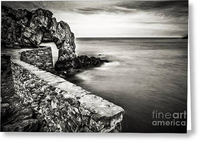 Foundry Greeting Cards - Porth Wen Arch Greeting Card by Adrian Evans