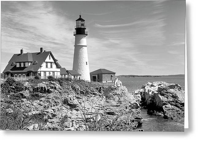 Maine Lighthouses Digital Greeting Cards - Portland Head Lighthouse Greeting Card by Mike McGlothlen