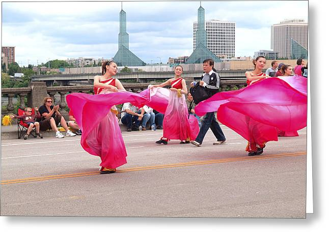 Marching Band Greeting Cards - Portland Oregon Rose festival. Greeting Card by Gino Rigucci