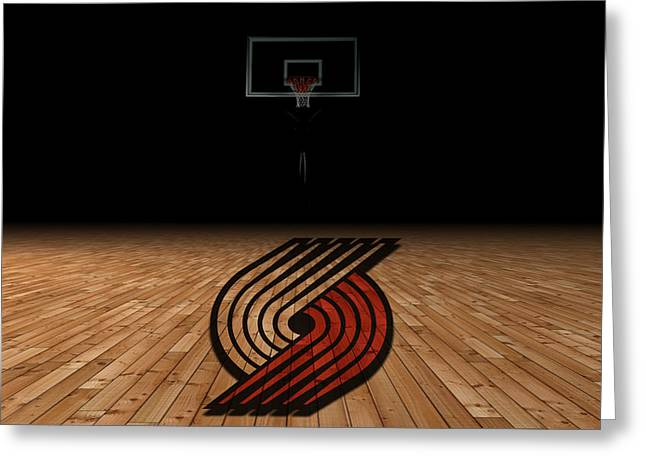 March Greeting Cards - Portland Trailblazers Greeting Card by Joe Hamilton