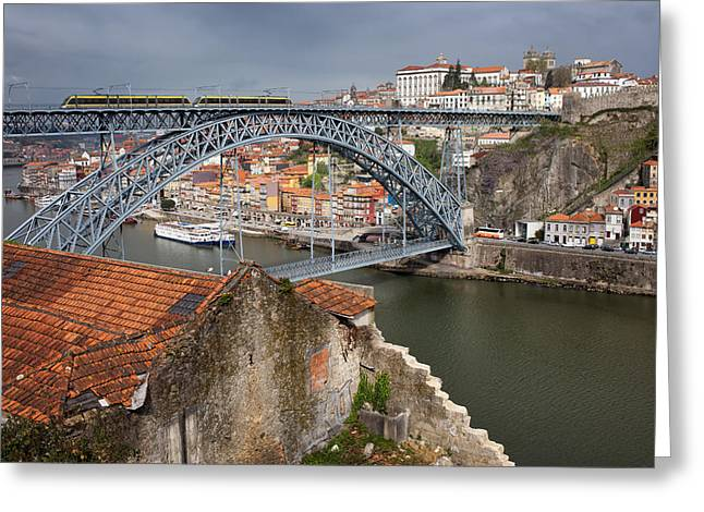 Gaia Greeting Cards - Porto in Portugal Greeting Card by Artur Bogacki