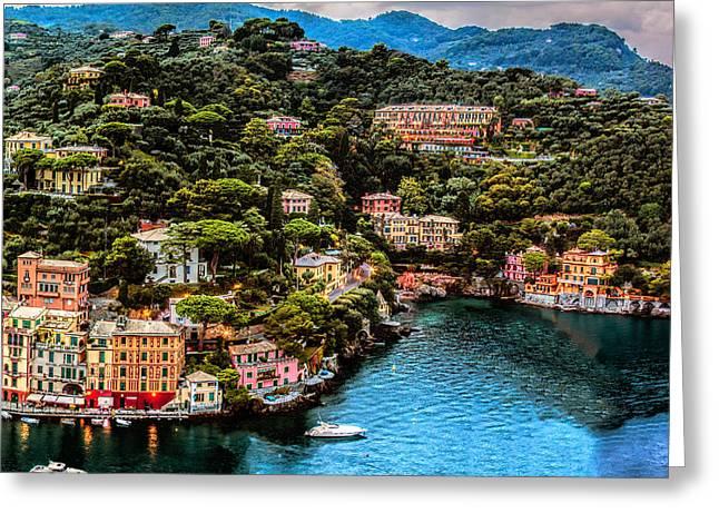 Portofino Italy Greeting Cards - Portofino Italy 40 x 40 2 of 3 Greeting Card by Paul James