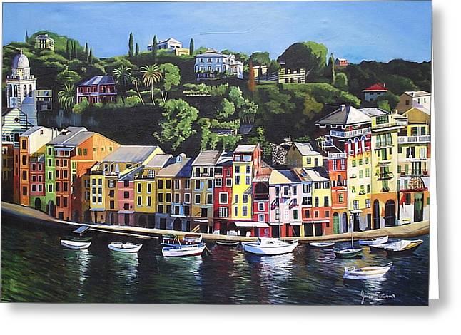 Portofino Italy Greeting Cards - Portofino Greeting Card by James  Scrivano