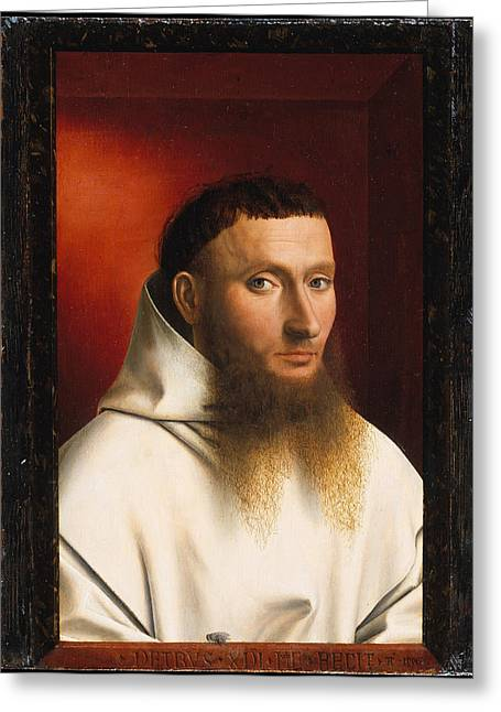Old Masters Greeting Cards - Portrait of a Carthusian Greeting Card by Celestial Images
